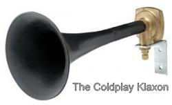 coldplay klaxon